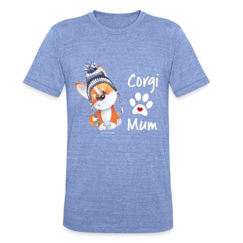 Corgi mum - Mothers day - T-shirt chiné Bella + Canvas Unisexe