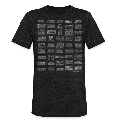 Synth Evolution T-shirt - Black - Unisex Tri-Blend T-Shirt by Bella & Canvas