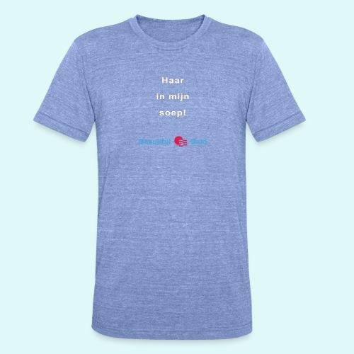 Haar in mijn soep-w - Unisex tri-blend T-shirt van Bella + Canvas