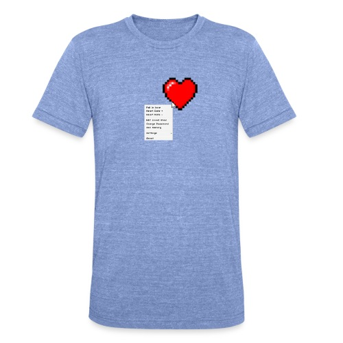 Options of the heart - Unisex tri-blend T-shirt fra Bella + Canvas