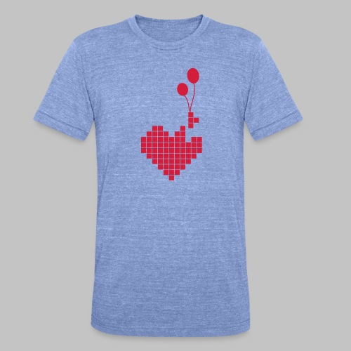 heart and balloons - Unisex Tri-Blend T-Shirt by Bella & Canvas