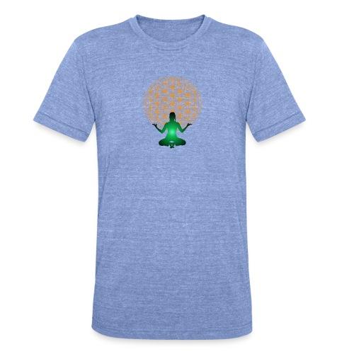 fleur de vie yoga n°4 - T-shirt chiné Bella + Canvas Unisexe