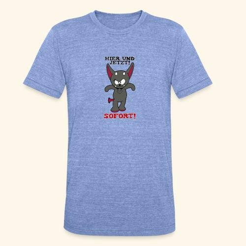 Zwergschlammelfen - Hier und Jetzt, Sofort! - Unisex Tri-Blend T-Shirt von Bella + Canvas