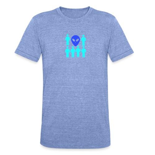 Extraterestre y Humano - Camiseta Tri-Blend unisex de Bella + Canvas