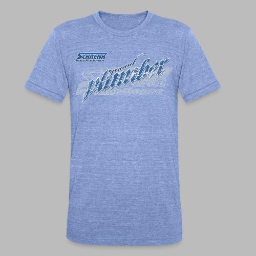PROUD Plumber PRO / 3fach Druck - Unisex Tri-Blend T-Shirt von Bella + Canvas