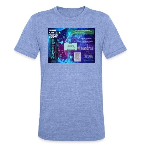 BNHE Credits generating digital value flow - Unisex Tri-Blend T-Shirt von Bella + Canvas