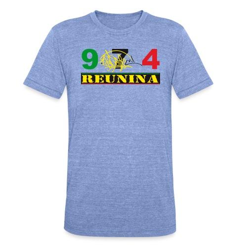 974 ker kreol ikon rasta 01 - T-shirt chiné Bella + Canvas Unisexe