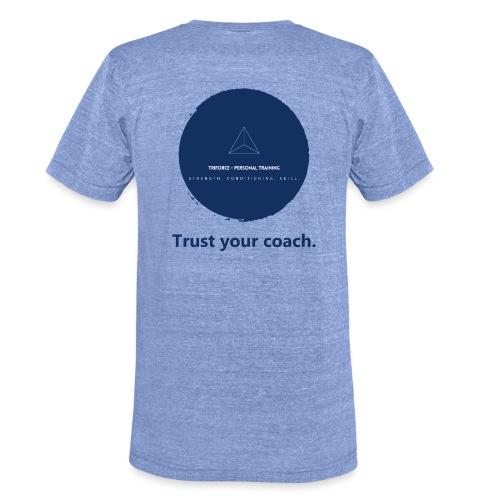 Triforce blend (blue) - Trust your coach - Unisex Tri-Blend T-Shirt von Bella + Canvas