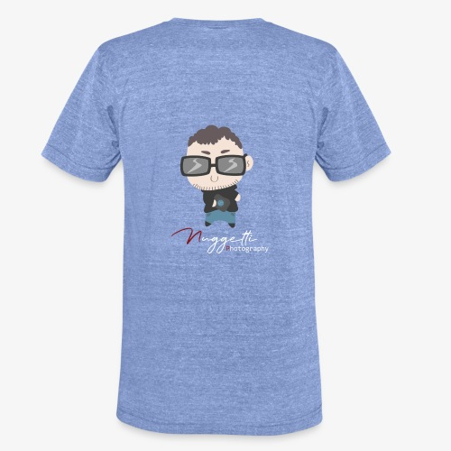 Nuggetti logo met tekst wit - Unisex tri-blend T-shirt van Bella + Canvas