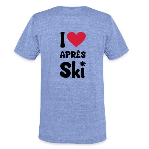 T-Shirt I love apres ski - Unisex Tri-Blend T-Shirt von Bella + Canvas