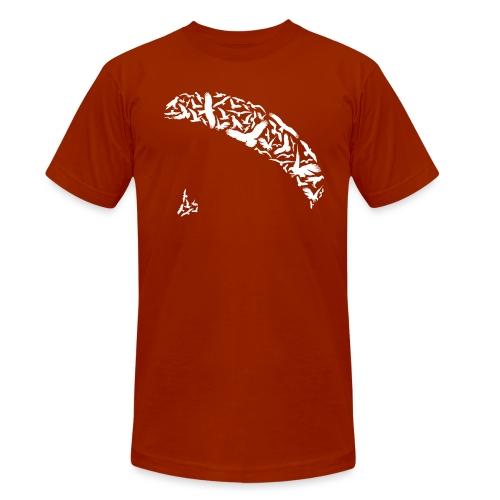 Gleitschirm Vögel Wildtiere fliegen - Unisex Tri-Blend T-Shirt von Bella + Canvas