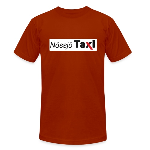 Nässjö taxi tryck - Triblend-T-shirt unisex från Bella + Canvas