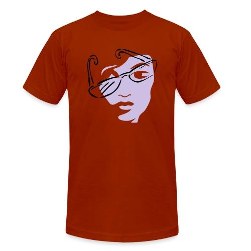 Girl mit Sonnenbrille - Unisex Tri-Blend T-Shirt von Bella + Canvas