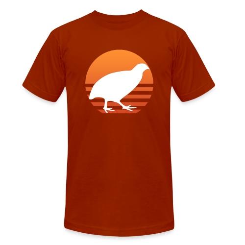 Retro Wachtel Geschenkidee Design Wachteln Logo - Unisex Tri-Blend T-Shirt von Bella + Canvas