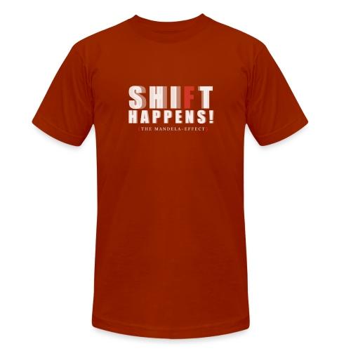 Shift Happens red F - Unisex Tri-Blend T-Shirt von Bella + Canvas