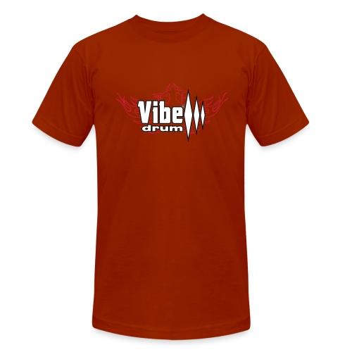 Vibe_Drum_Logo_Flames - Maglietta unisex tri-blend di Bella + Canvas
