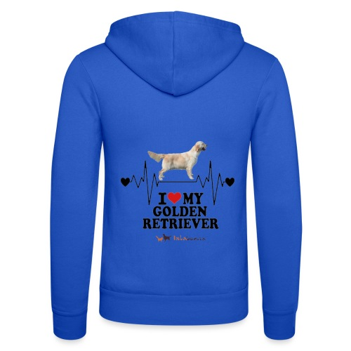 I love Golden Retriever - Felpa con cappuccio di Bella + Canvas