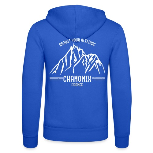 Chamonix France - Unisex Hooded Jacket by Bella + Canvas