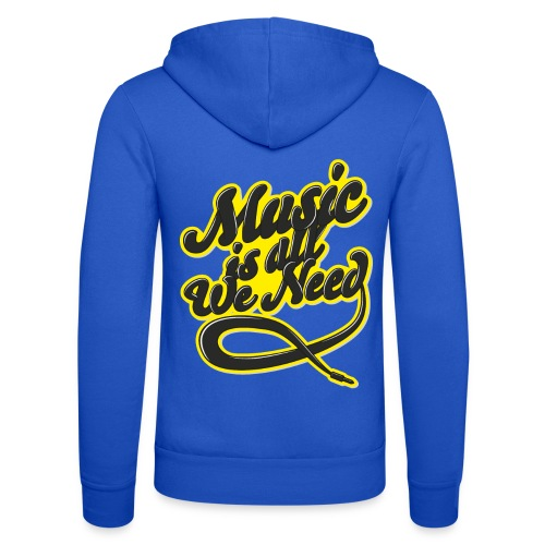 Music Is All We Need - Unisex Hooded Jacket by Bella + Canvas