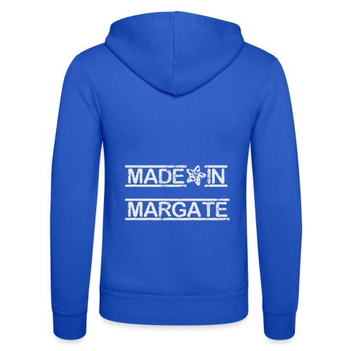 Made in Margate - White - Unisex Hooded Jacket by Bella + Canvas