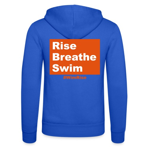 Rise Breathe Swim - Unisex Hooded Jacket by Bella + Canvas