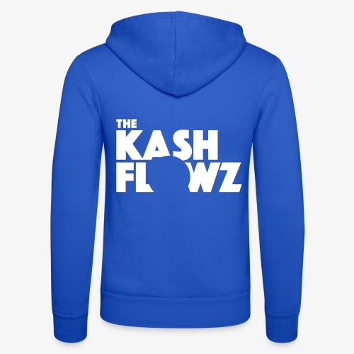 The Kash Flowz Official Logo White - Veste à capuche unisexe Bella + Canvas