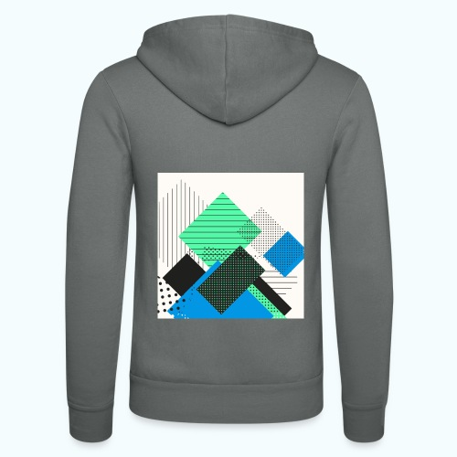 Abstract rectangles pastel - Unisex Hooded Jacket by Bella + Canvas
