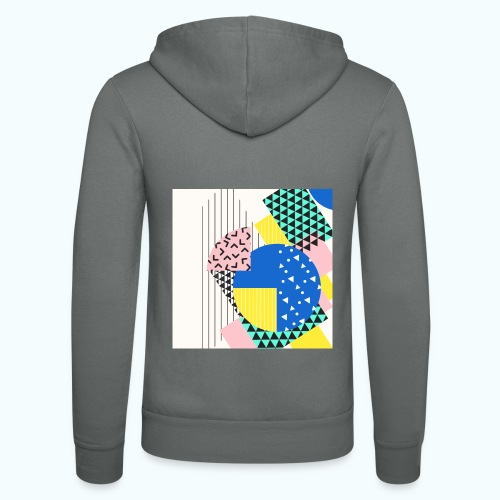 Retro Vintage Shapes Abstract - Unisex Hooded Jacket by Bella + Canvas