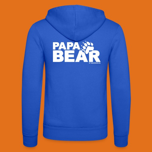 papa bear new - Unisex Hooded Jacket by Bella + Canvas