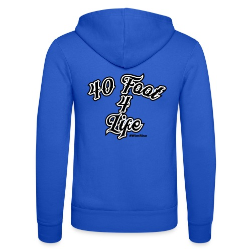 40 foot 4 life - Unisex Hooded Jacket by Bella + Canvas