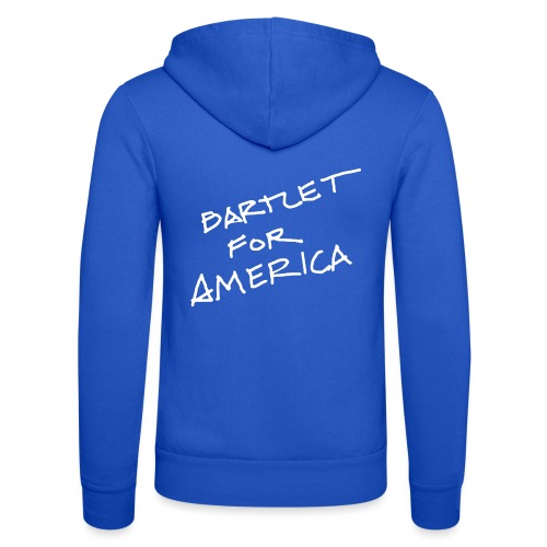 Bartlet For America - Unisex Hooded Jacket by Bella + Canvas