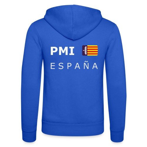 PMI MF ESPAÑA white-lettered 400 dpi - Unisex Hooded Jacket by Bella + Canvas
