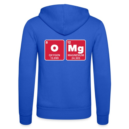periodic table omg oxygen magnesium Oh mein Gott - Unisex Hooded Jacket by Bella + Canvas