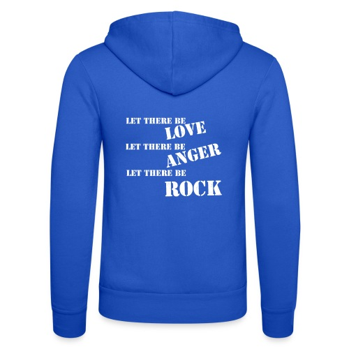 Love Anger Rock - Unisex Hooded Jacket by Bella + Canvas