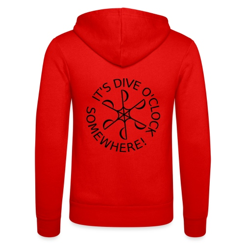 Dive o clock Black - Unisex Hooded Jacket by Bella + Canvas