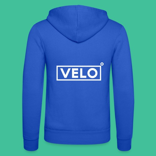 Velo Icon - Blk Track Jacket - Unisex Hooded Jacket by Bella + Canvas
