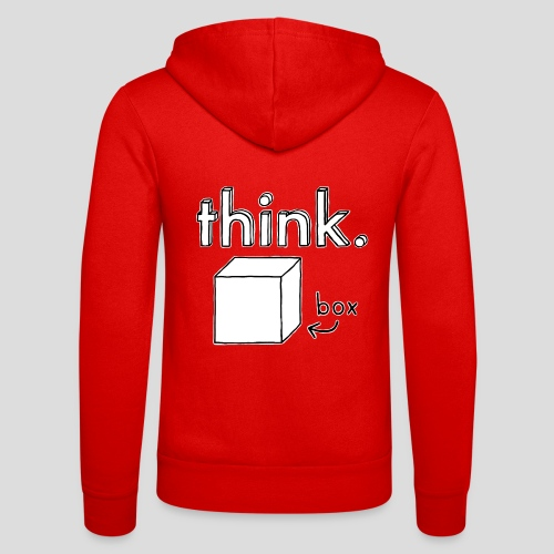 Think Outside The Box Illustration - Unisex Hooded Jacket by Bella + Canvas