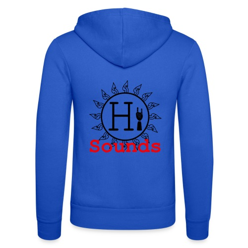 Hi Sounds Logo - Unisex Kapuzenjacke von Bella + Canvas