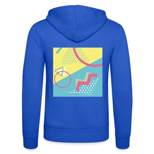 Pastel turquoise geometry - Unisex Hooded Jacket by Bella + Canvas