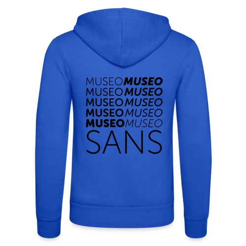 museo sans - Unisex Hooded Jacket by Bella + Canvas