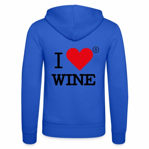 I heart wine - Unisex Hooded Jacket by Bella + Canvas