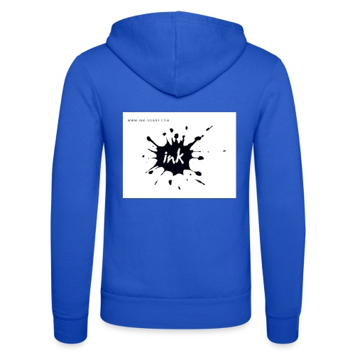 Ink Logo and website - Unisex Hooded Jacket by Bella + Canvas