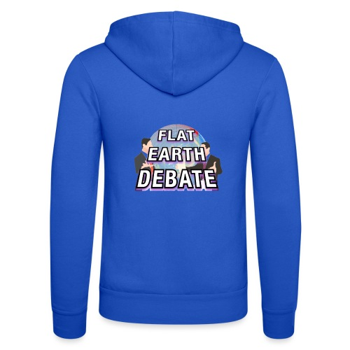 Flat Earth Debate Solid - Unisex Hooded Jacket by Bella + Canvas