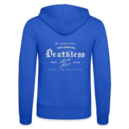 deathless living team grau - Unisex Kapuzenjacke von Bella + Canvas