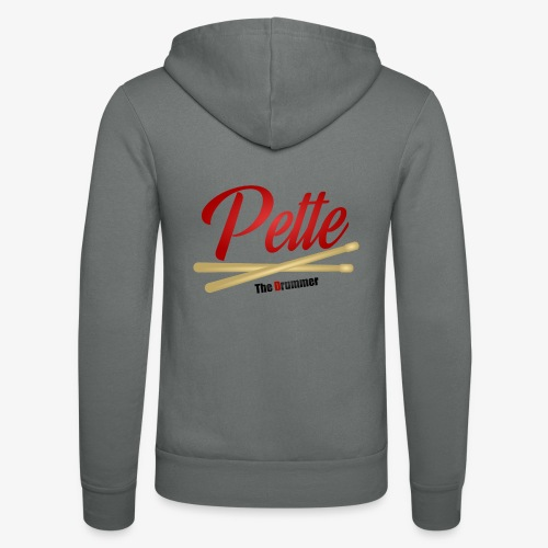 Pette the Drummer - Unisex Hooded Jacket by Bella + Canvas