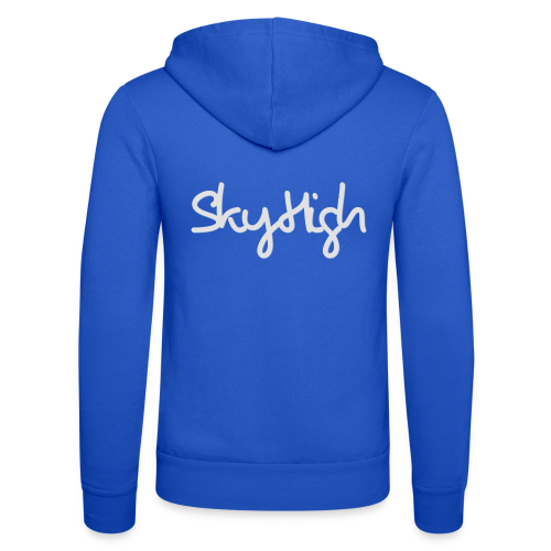 SkyHigh - Women's Premium T-Shirt - Gray Lettering - Unisex Hooded Jacket by Bella + Canvas