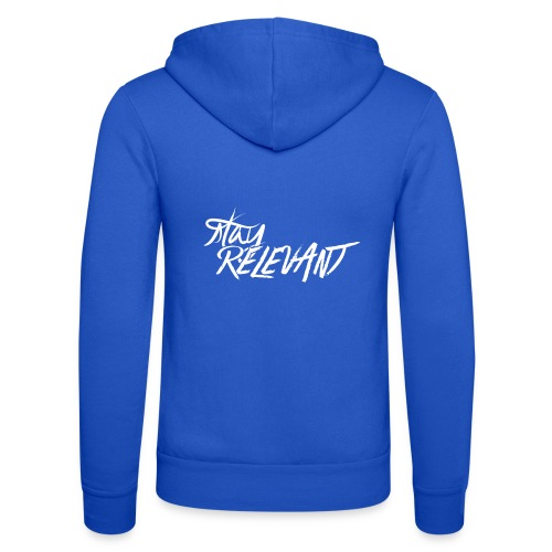 stay relevant wht png - Unisex Hooded Jacket by Bella + Canvas