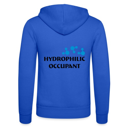 Hydrophilic Occupant (2 colour vector graphic) - Unisex Hooded Jacket by Bella + Canvas