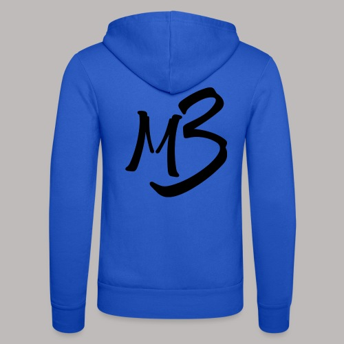 MB13 logo - Unisex Hooded Jacket by Bella + Canvas