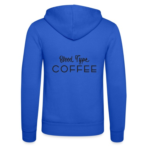 Blood Type - Coffee - Unisex Hooded Jacket by Bella + Canvas